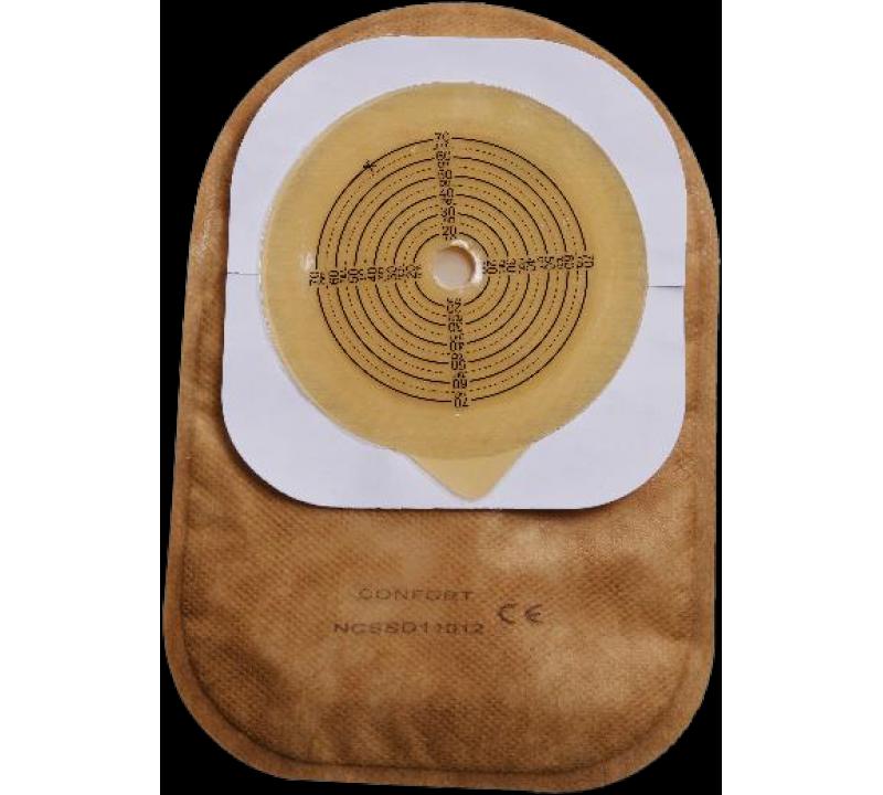 კოლოსტომის ჩანთა დახურული, სამაგრით